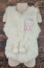 A936 Hello Kitty Faux Fur Jacket Vest Cute Outdoor Youth Girl Size XS
