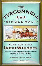 Tyrconnell Single Malt Label embossed steel sign 300mm x 200mm (hi)