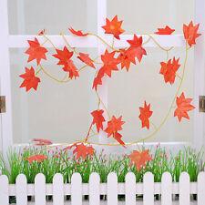 Red Autumn Leaves Garland Maple Leaf  Vine Fake Foliage Flowers Home Decor Hot
