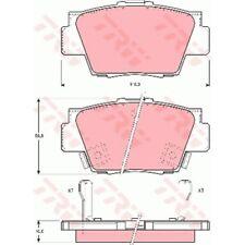 TRW Original Bremsbelagsatz, Scheibenbremse 23355 Hinterachse GDB3039 Honda