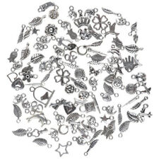 NEW Wholesale 100pcs Bulk Lots Tibetan Silver Mix Charm Pendants Jewelry DIY Top