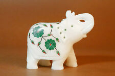 Marble Elephant with inlay work Home Decorative Figurine Best Home Decor