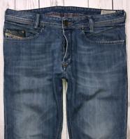 Mens DIESEL Iakop Jeans W32 L29 Blue Regular Slim Tapered Wash 0807S_STRETCH