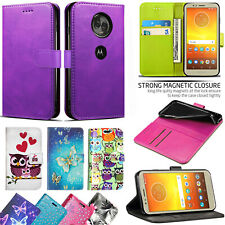 For Motorola Moto G7 Play Plus Power PU Leather Wallet Phone Flip Case Cover