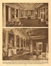 Views inside the Buckingham Palace of Victorian days 1926 old vintage print