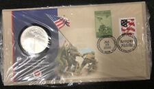Official Eyewitness To History Official Silver Coin First Day Cover NH