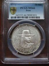 """PERU 1971 50 SOL PCGS MS 66! 150th """"ANNIVERSARY OF INDEPENDENCE"""""""