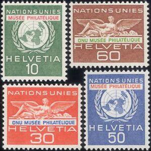 Switzerland (UN) 1962 UN Philatelic Museum Opening/Emblem/Statue 4v set (ch1048)