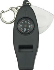 "Explorer Emergency Whistle H4-1 3 1/8"" overall. Black composition construction w"