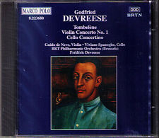 Godfried DEVREESE Violin & Cello Concerto Tombelene Choreographic Suite CD