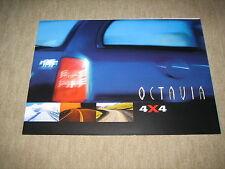 Skoda Octavia Combi 4 x 4 Prospekt Brochure von 6/1999