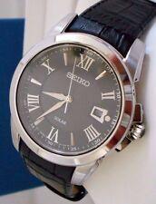Mint Seiko Men's Sport Le Grand Quartz  Black Leather Watch with Box