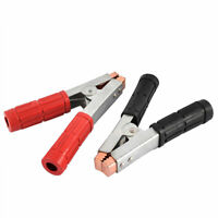 Vehicle Car Battery Clip Alligator Test Clamp Red Black Handle 2pcs