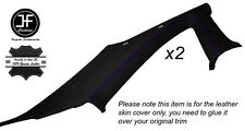 PURPLE STICH 2X B C PILLAR TRIM SKIN COVER FITS NISSAN SKYLINE GTS GTR R33 93-98