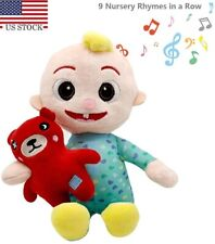 Ship from US Cocomelon JJ Plush Doll Musical Bedtime with Bear JJ Doll US Seller