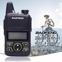 BAOFENG BF-T1 walkie talkie with ptt earpiece fm radio uhf 400-470mhz vox new gb