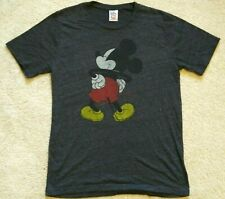 Disney Junk Food Mickey Mouse Charcoal Gray T-shirt Size Large