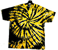BLACK & GOLD DOUBLE DIP Hand-dyed Tie Dye T-shirt Size S M L XL 2X 3X 4X 5X