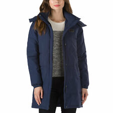Vans DOPPLER PUFFER Womens Zip/Snap Quilted Jacket Sz Small Dress Blues NEW