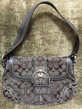 "Authentic Women's Coach Signature CC Handbag 12x8.75"" Dark Brown"