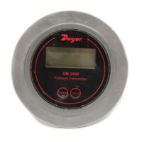 Dwyer DM-2000 Differential Pressure Transmitter With LCD Black Background