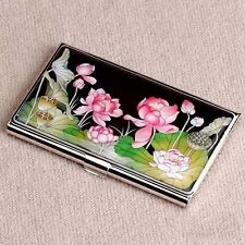 Mother of Pearl Business&Credit Card Case -Lotus Flower