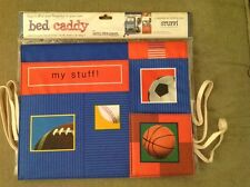"""5 Pockets Sports Themed Bed Caddy ~ Great for Camp, Dorm, Home 12 1/4"""" X 16 1/2"""""""