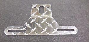 ALUMINUM DIAMOND PLATE BOAT TRAILER LICENSE PLATE TAG HOLDER