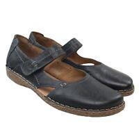 JOSEF SEIBEL Womens Black Leather Mary Janes Comfort Shoes EU 43 US 11