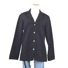 WRANGLER RIATA Western Black Denim Blazer Embroidered Jacket 4 Button Women's L