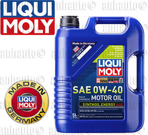 5-Liters  Liqui Moly SAE 0W-40 Fully Synthetic Motor Oil Synthoil Energy
