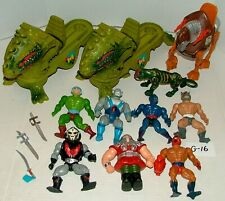 #1980s MATTEL HE-MAN MASTERS OF THE UNIVERSE FIGURES LOT & 2 DRAGON WALKERS #G16