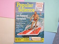 1964 POPULAR SCIENCE JUNE JET POWERED AQUAPLANE WHAT AILS YOUR CAR PLASTIC ROPES