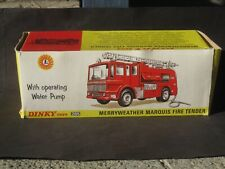 VINTAGE DINKY TOY # 285 MERRYWEATHER MARQUIS FIRE TENDER MINT ORIGINAL BOX