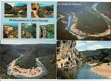 Lot 81 cartes postales anciennes de 1965 à 2000 ARDECHE GORGES VALLON