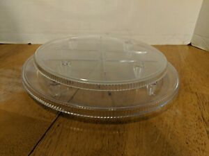 "Vintage Crystal Look Acrylic Cake Separator Plates Wilton Brand 11"", 9"". Lot GA"