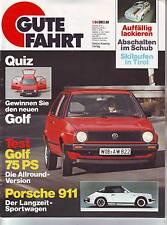 Gute Fahrt 1/84 VW Golf 75 PS/20 Jahre Porsche 911/Schubabschaltung/1984