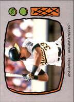 2019 Topps Throwback Thursday Baseball #306 Jose Canseco Oakland Athletics  1990