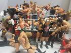 WWE WWF Wrestling Ring Lot 65 Action Figures Raw WCW TNA Impact Jakks Mattel
