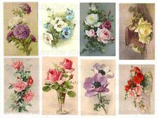 Furniture Glass Decal Image Transfer Vintage Antique Labels Roses Floral Flower