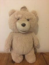 """TED BEAR PLUSH SMALL BACKPACK TALKING EXPLICIT 16"""""""