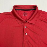 PGA Tour Golf Polo Shirt Men's 2XL XXL Short Sleeve Red Casual 100% Polyester