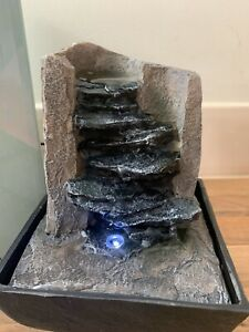 Indoor Mini Water Feature Tumbling Spring Design and LED Light Decorative