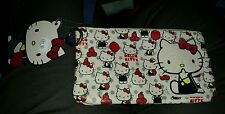 Hello Kitty Loungefly Bag Apples Makeup Small Denim Canvas Rare Zipper