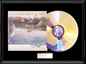 RUSH GRACE UNDER PRESSURE WHITE GOLD PLATINUM TONED RECORD LP FRAME RARE NON RIA