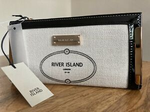 RIVER ISLAND White RI metal corner purse new with tags