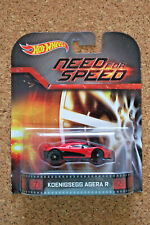 Hot Wheels 2014 Koenigsegg Agera R Need For Speed Red Entertainment