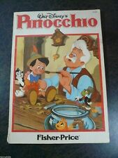 Antique 1945 Walt Disney's Pinocchio Paperback Book 3114T