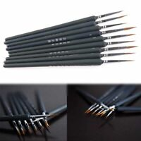9Pcs Hair Paint Brush Watercolor Sketched Line Pen Drawing Stylus Art Craft Set