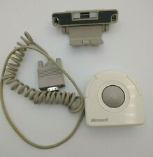 Microsoft Ballpoint Serial Port Mouse Trackball (13340) w/ Laptop Bracket Stand